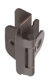 Amerock BP8704-ORB Double Demountable Partial Wrap Hinge, 1/2-Inch Overlay, Oil Rubbed Bronze - (2 Pair)