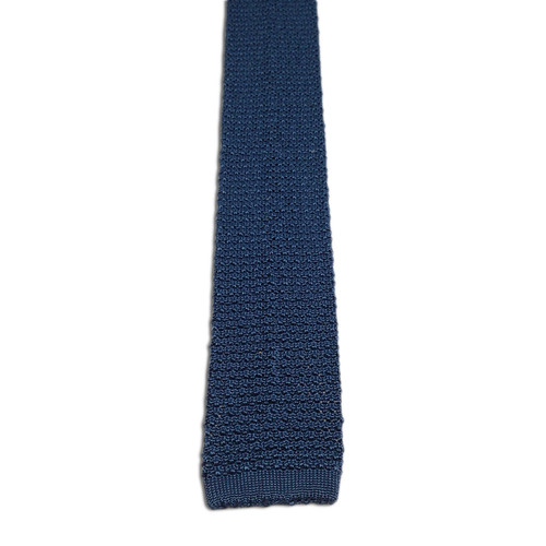 Chipp Slate Blue Silk Knit Tie
