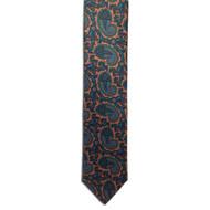 Chipp Rust Ancient Madder Paisley Print Tie