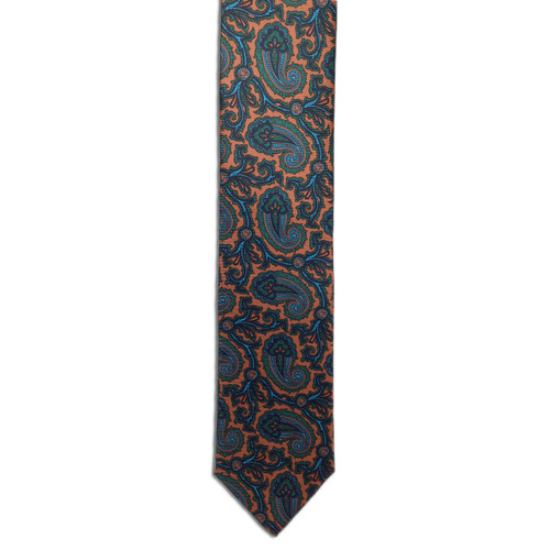 Chipp Rust Ancient Madder Paisley Print Tie