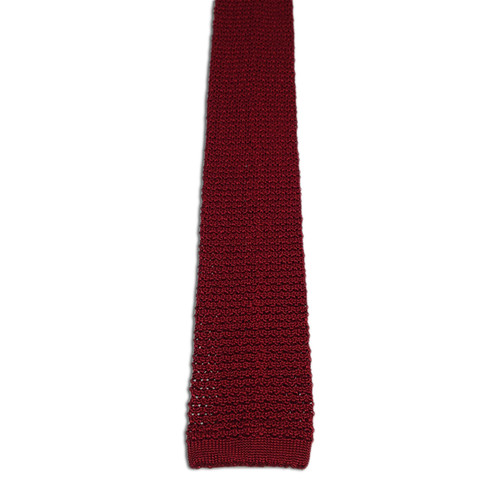 Chipp Wine Silk Knit Tie