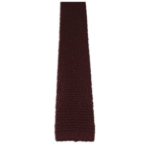 Chipp chocolate knit tie