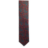 Chipp Blue Ancient Madder Paisley Print Tie