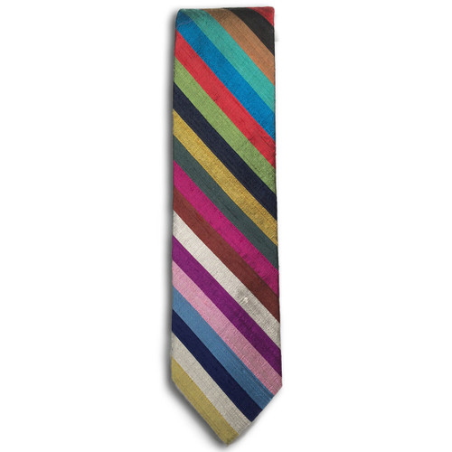 Chipp Silk Shantung Stripe Tie