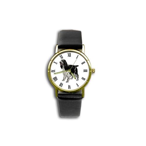 Chipp English Springer Spaniel (Black And White) Watch