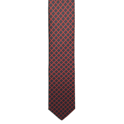Red Ancient Madder Small Print Tie