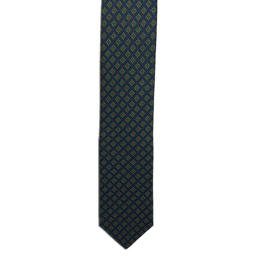 Navy Ancient Madder Small Print Tie