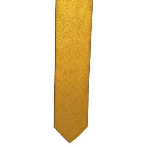 Sun Yellow Silk Matka Tie