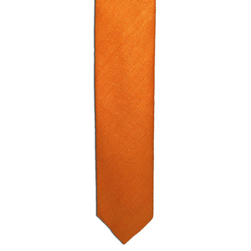Orange Silk Matka Tie