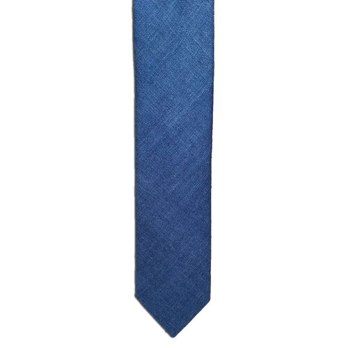 French Blue Silk Matka Tie