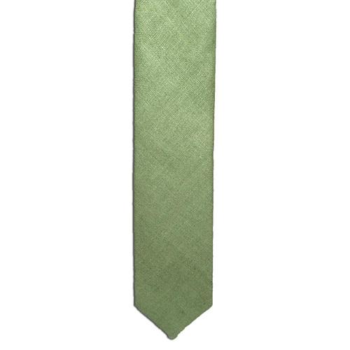 Celery Green Silk Matka Tie