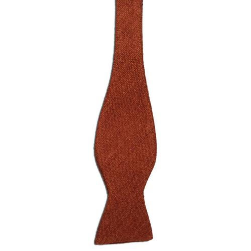 Rust Silk Matka Bow Tie