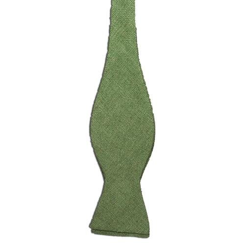 Celery Green Silk Matka Bow Tie