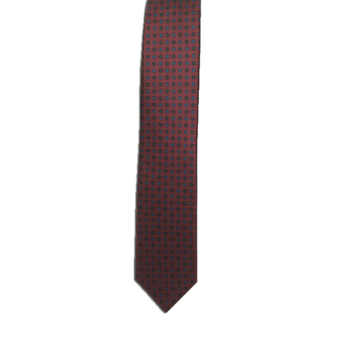 Wine Ancient Madder Miniature Diamond Print Tie