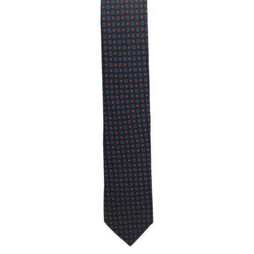 Chipp Navy and Wine Ancient Madder Small Print Tie
