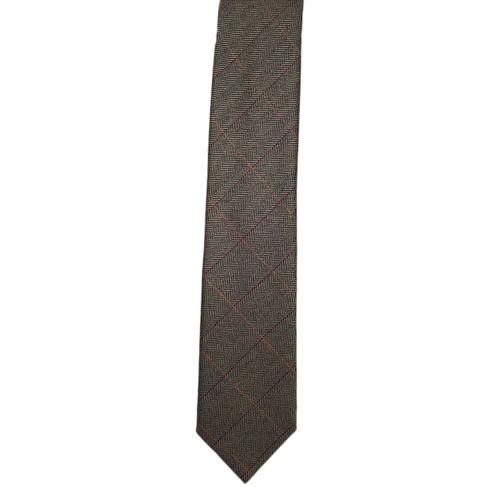 Brown Herringbone Scottish Cashmere Chipp Tie