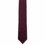 Red Small Bean Wool Challis Tie