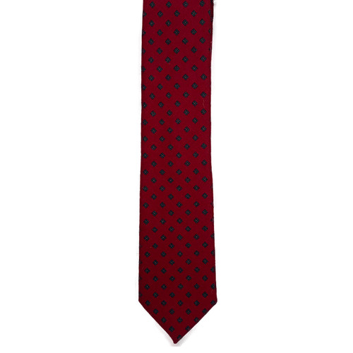 Wine Diamond Wool Challis Tie