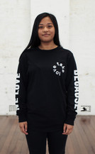 We Love Because Long Sleeve - Black