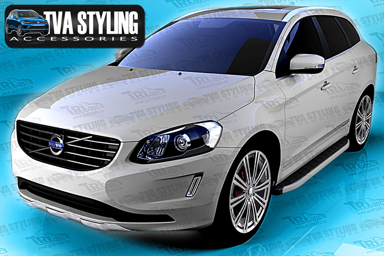 volvo xc60 side steps alyans running boards 2008 on buy now at trade 4x4 accessories. Black Bedroom Furniture Sets. Home Design Ideas