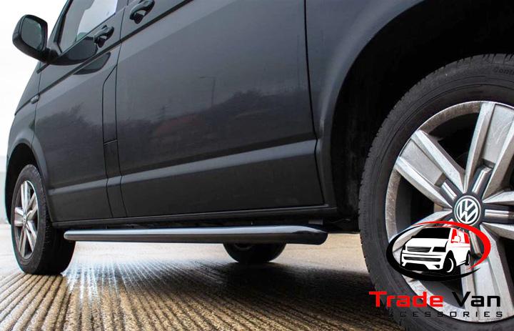 VW T5 BLACK SPORTLINE SIDEBARS LWB