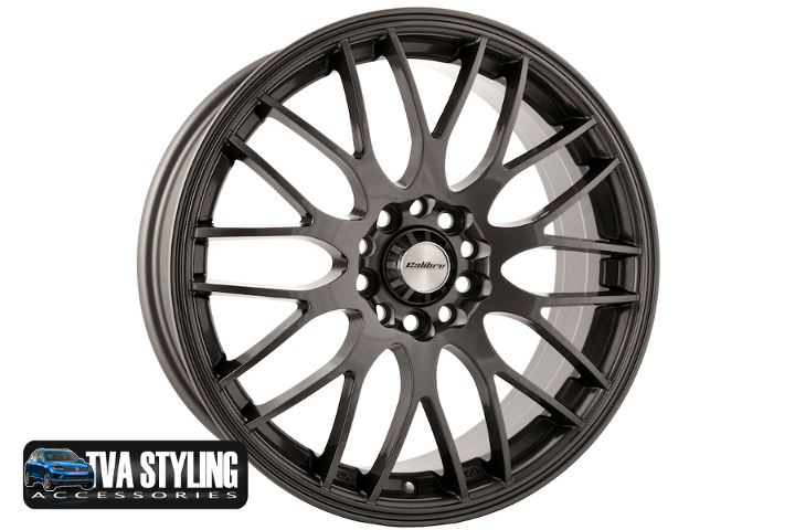 "VW Caddy Motion 17"" Alloy Wheels Tyres Hyper Gunmetal Set of 4"