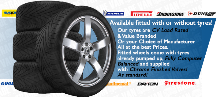 Available fitted with or without tyres! Tyres come Load Rated & Branded 275 / 40 - 20 Or your Choice of Manufacturer. All at the best Prices. We'll even pump them up to your specification...High PSI for Sport Grip or Lower PSI for Comfort.