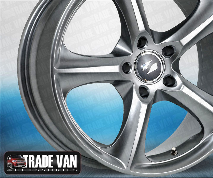 "Our Renault Trafic 2014-on 18"" alloy wheels really enhance the styling of your Trafic 2014-on . Beautifully formed with superior design. Load rated. Buy online at Trade van Accessories."