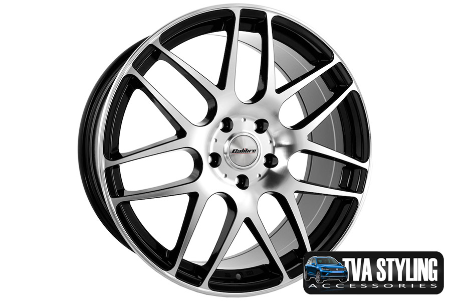 "VW T6 Transporter Exile Black & Polished 18"" Alloy Wheels Alloys Set of 4"