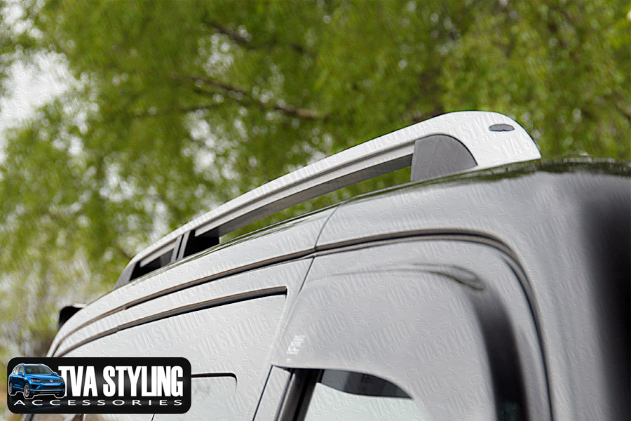 Our TX3 Sahara Roof Rails for LWB VW T6 are a great and practical addition for your Van. Buy online at TVA Styling.