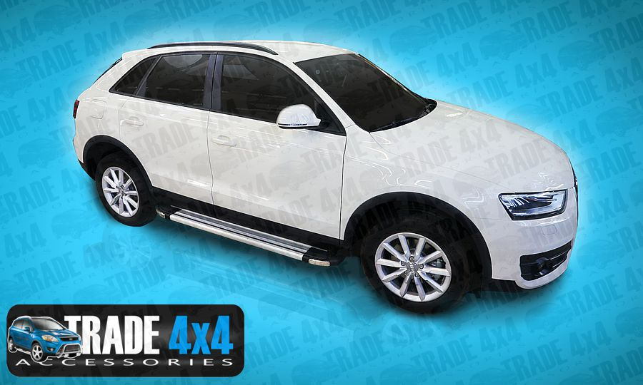 Our Audi Q3 4x4 Side Steps accessories really upgrade your Audi Q3 Q5 Q7 4x4 with our 4x4 styling accessories- Buy online at Trade 4x4 Accessories.