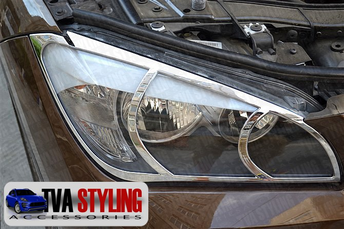 Our chrome BMW X1 head light covers are an eye-catching and stylish addition for your car. Buy online at Trade car Accessories.