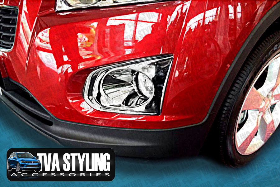 Our chrome Chevrolet Trax front fog light covers are an eye-catching and stylish addition for your car. Buy online at Trade car Accessories.