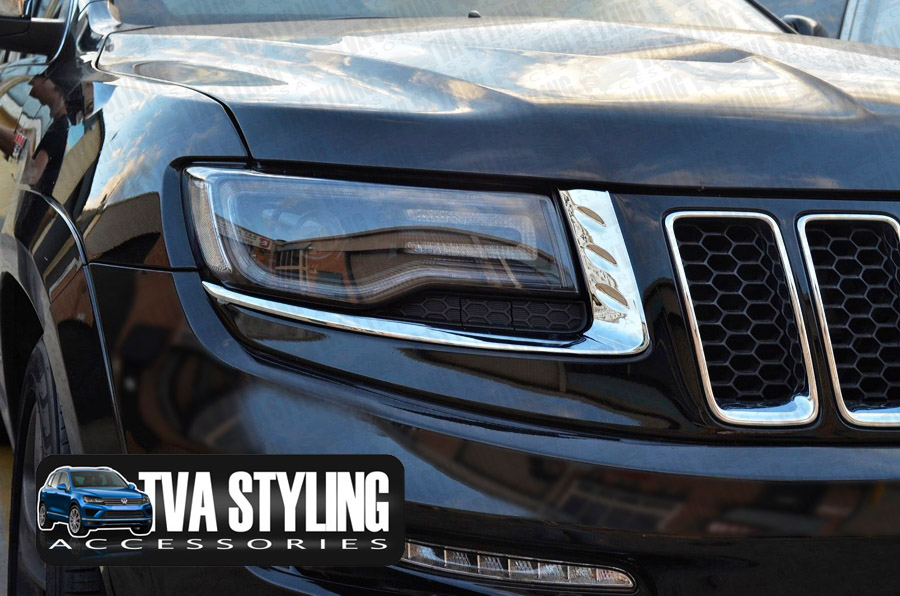 Our chrome Jeep Grand Cherokee head light covers are an eye-catching and stylish addition for your car. Buy online at Trade car Accessories.