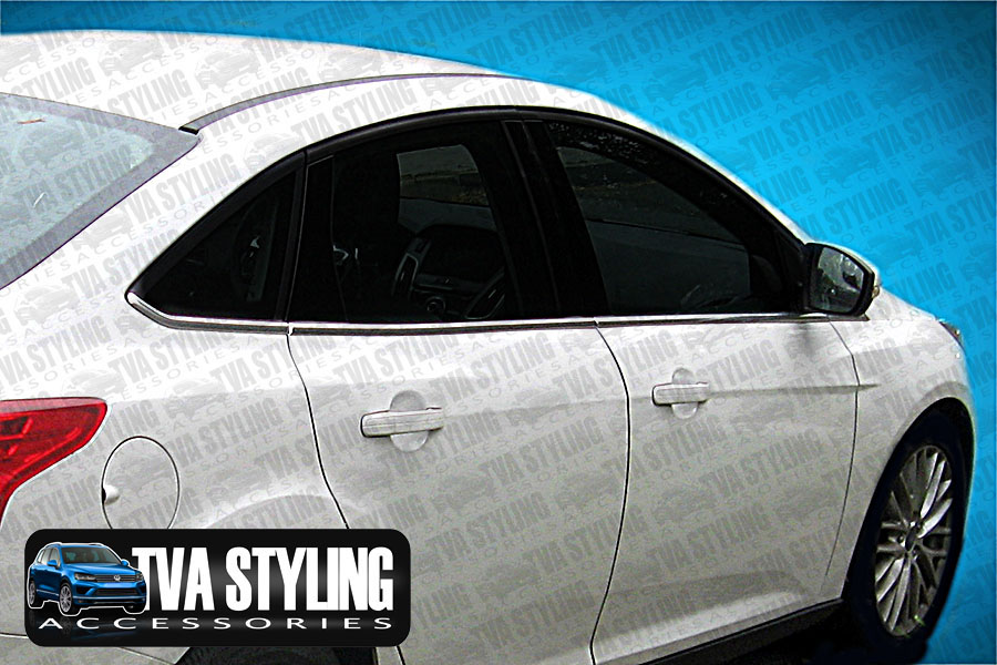 Our chrome Ford Focus side lower window frames covers are an eye-catching and stylish addition for your car. Buy online at Trade car Accessories.