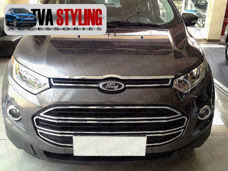 Our chrome Ford EcoSport front grille Frames Covers Surrounds trim is an eye-catching and stylish addition for your 4x4. Buy online at Trade 4x4 Accessories.