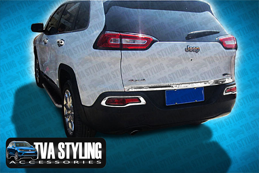 Our chrome Jeep Cherokee KL rear fog light covers are an eye-catching and stylish addition for your car. Buy online at Trade car Accessories.