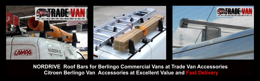 Citroen Berlingo Roof Bars Aluminium Roofbars Roof Rails are stylish and sleek for Berlingo vans  and Citroen Van Accessories UK