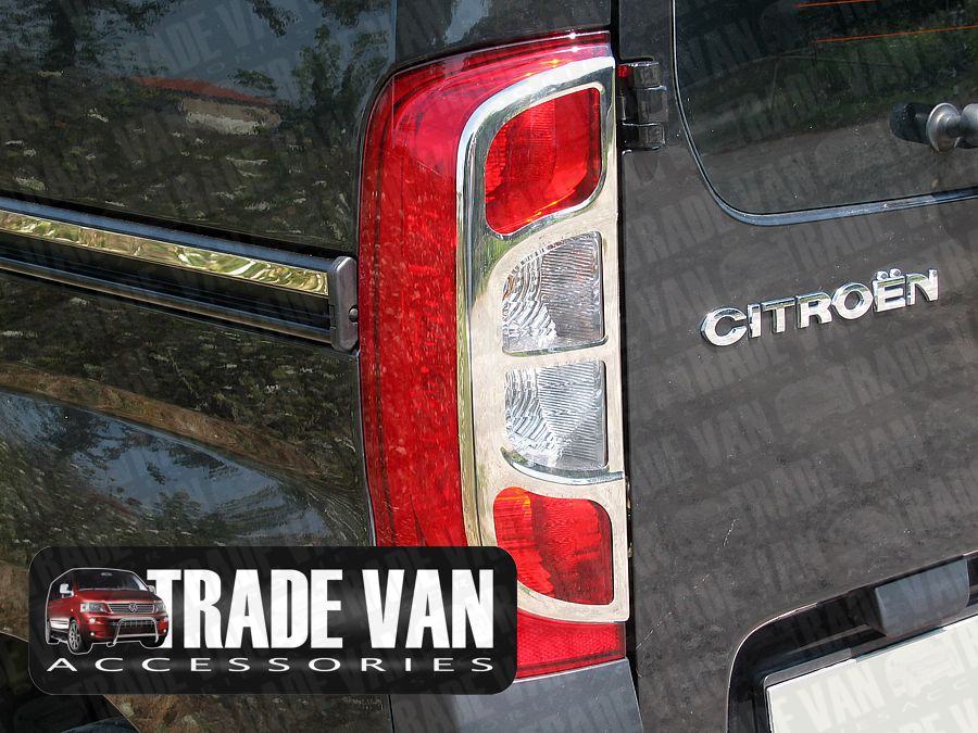 Our Citroen Nemo Rear Light Covers Stainless Steel really enhance the rear styling of your Nemo Van or Nemo Multispace MPV. Made from chrome look hand polished Stainless Steel. Buy online at Trade Van Accessories.