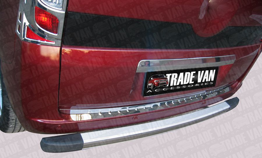 Our Citroen Nemo Rear Bumper Protector Stainless Steel are a practical and stylish accessory for your Nemo Van or MPV. Buy online at Trade Van Accessories.