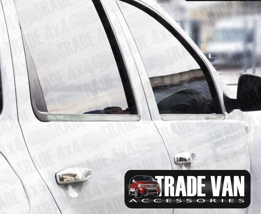 Our Dacia Duster Window Trim Covers Stainless Steel are made from chrome look hand polished Stainless Steel. Buy online at Trade 4x4 Accessories.
