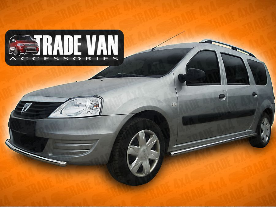 Our Dacia Logan MCVFront City Bars, really upgrade your Dacia Logan, These stainless steel front bars will fit all models Access, Ambiance and Laureate Buy all your MCV accessories online at Trade 4x4 Accessories.