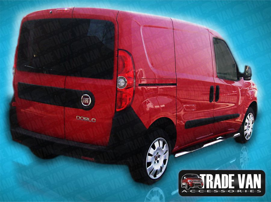 Our Fiat Doblo 2010 Side Bars really upgrade your Fiat Doblo Van or MPV. These stainless steel sidebars will fit all Doblo 2010 models. Buy all your Van accessories online at Trade Van Accessories.