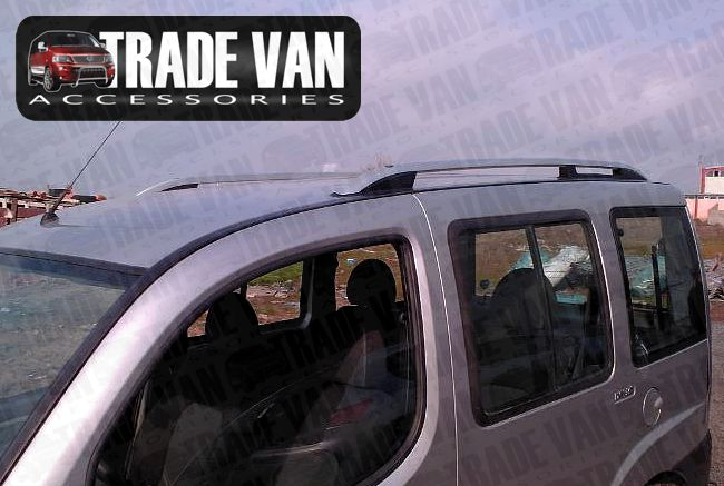Our Fiat Doblo TX3 Sahara roof rails and roof rack accessories really upgrade your Fiat Doblo van or MPV. These anodised aluminium roof rails will fit all 2006-09 Doblo models. Buy all your van accessories online at Trade van Accessories.