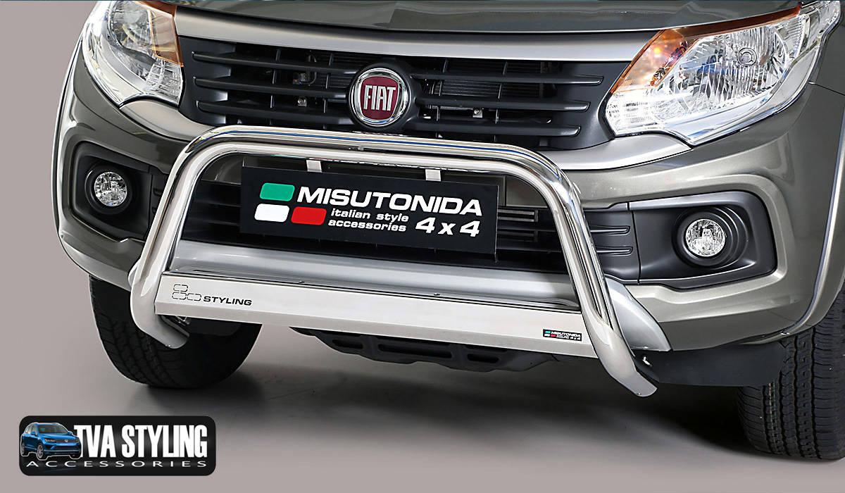 Our Stainless Steel Fiat Fullback INOX Bull Bar is an eye-catching and stylish addition for your van. Buy on at TVA Styling.