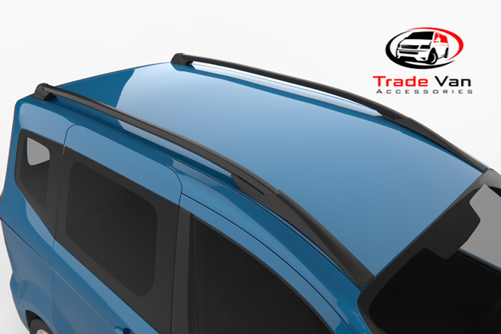 Ford Transit Courier Black Tempest Roof Rails