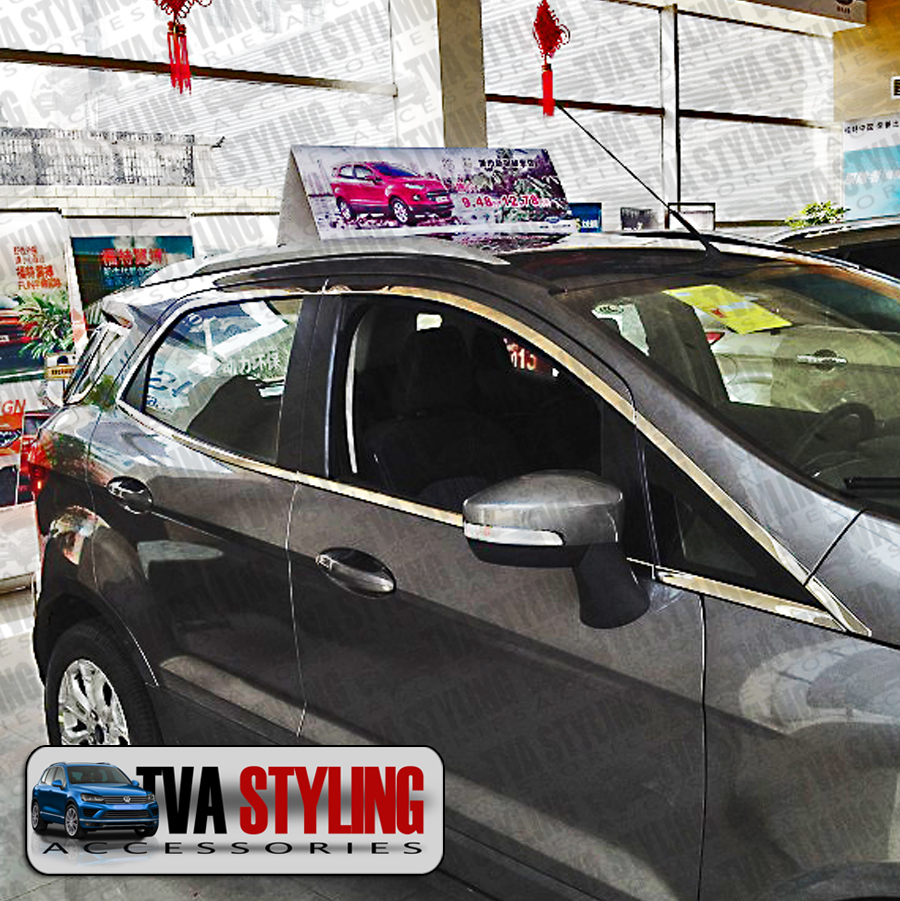 Ford Ecosport 2014 On Chrome Side Window Frame Surrounds