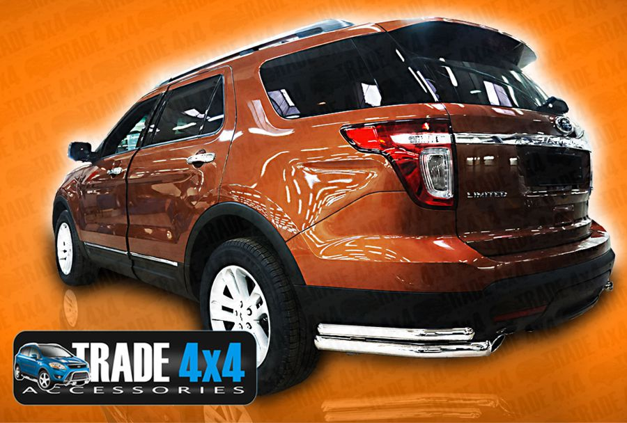 Our Ford Explorer 2013 Rear Corner Bars Stainless Steel are a practical and stylish accessory for your Explorer 2013 4x4 SUV. Buy online at Trade Van Accessories.