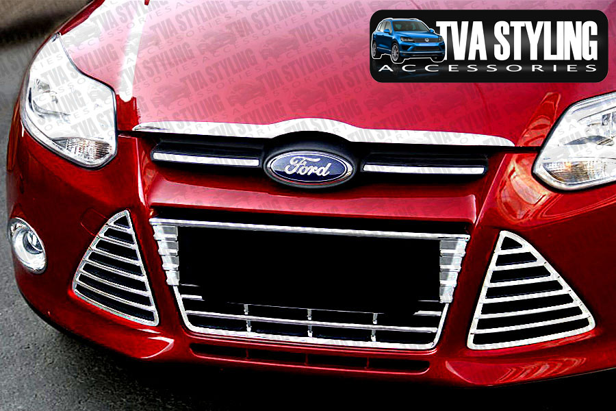 Our chrome Ford Focus front bumper grille cover is an eye-catching and stylish addition for your car. Buy online at Trade car Accessories.