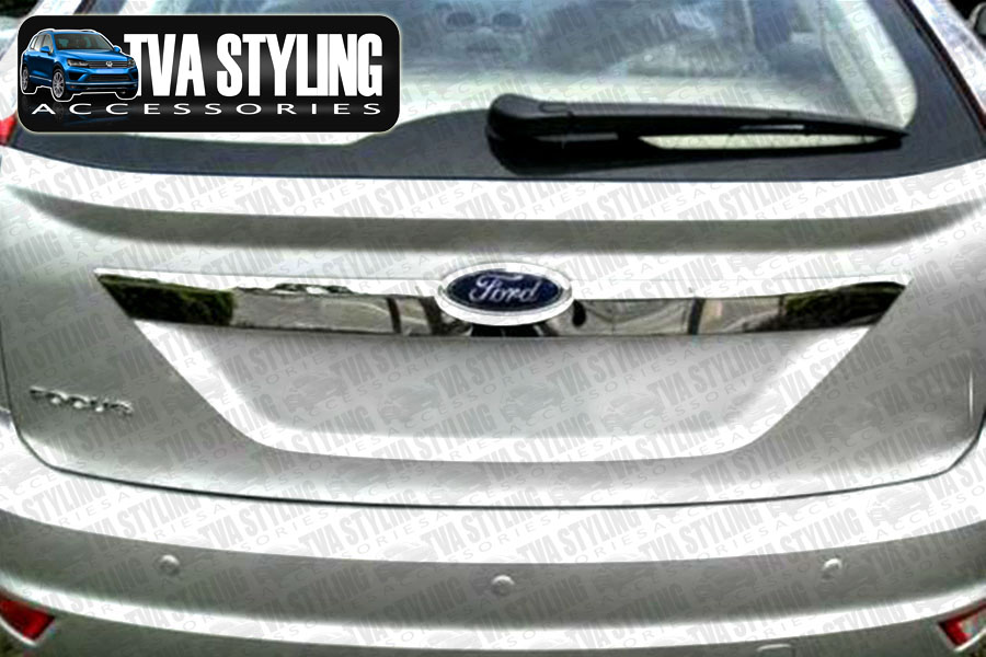 TVA Ford Focus 2008 on boot grab handle trim cover uk legal rear chrome trade car accessories